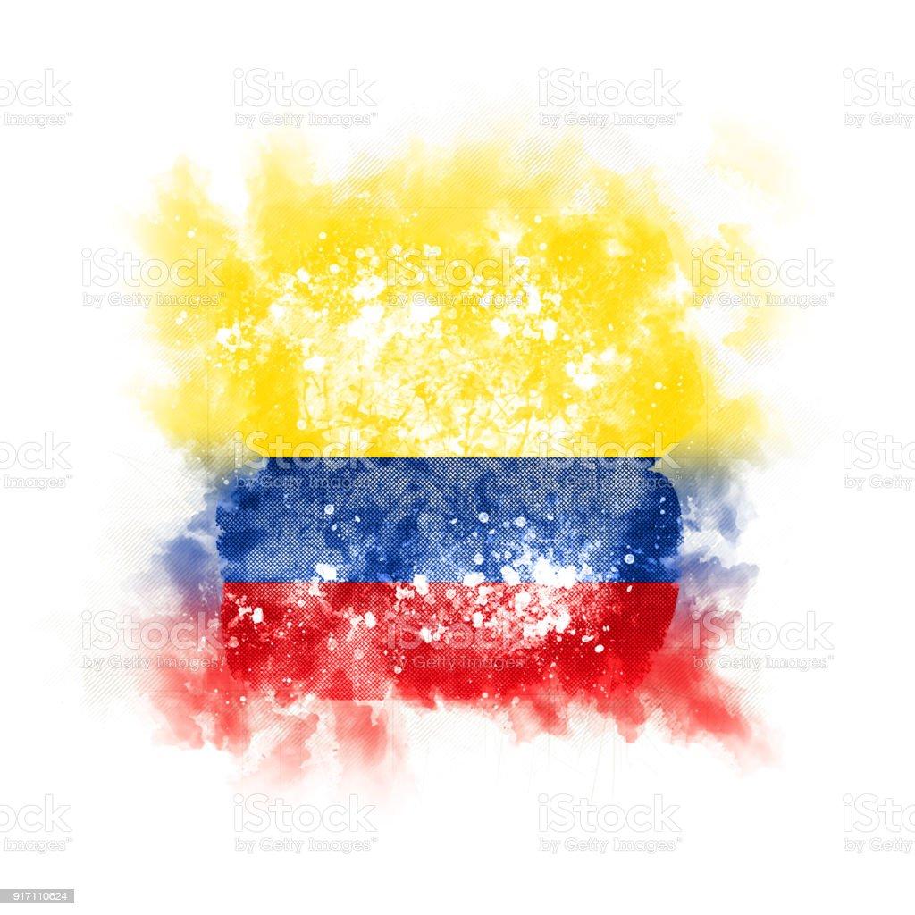 Plaza grunge bandera de colombia - foto de stock