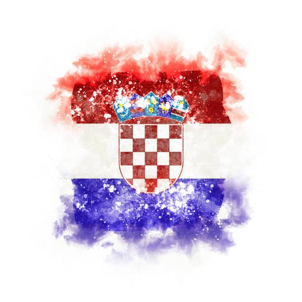 Plaza grunge bandera de Croacia - foto de stock