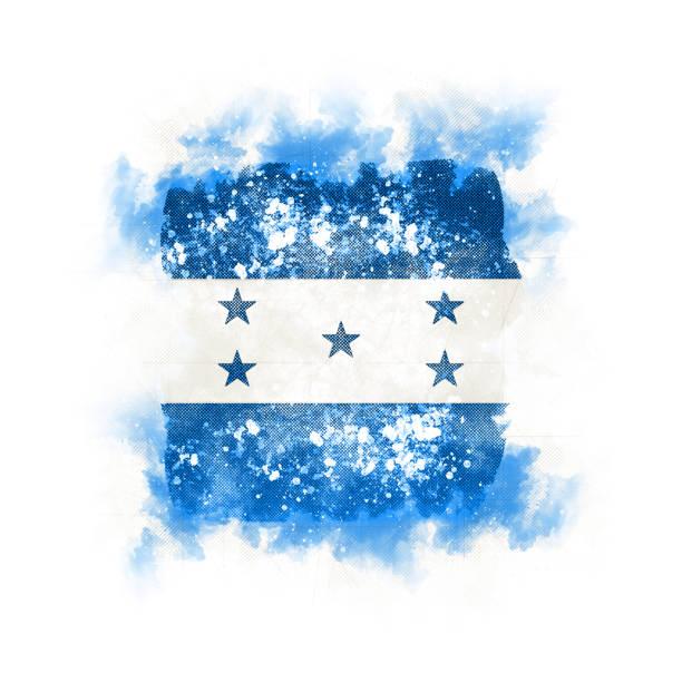 plaza grunge bandera de honduras - bandera de honduras fotografías e imágenes de stock