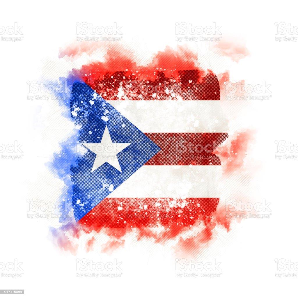 Plaza grunge bandera de puerto rico - foto de stock