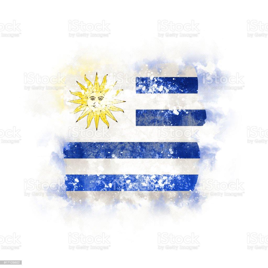 Plaza grunge bandera de uruguay - foto de stock