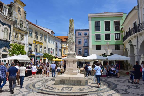 square in aveiro, portugal - aveiro imagens e fotografias de stock