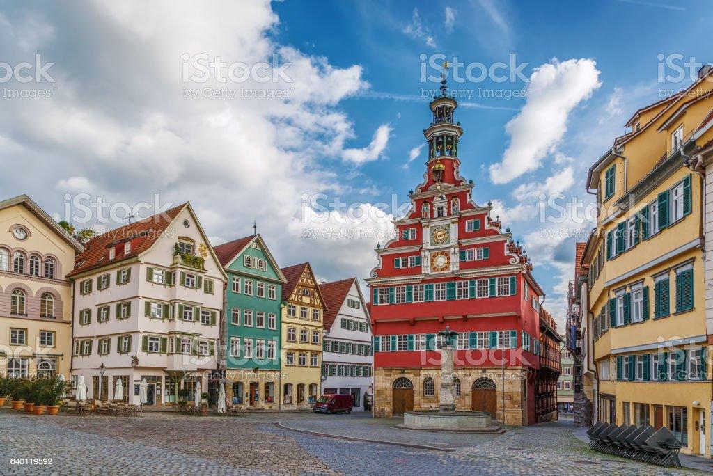 square in Esslingen am Neckar, Germany stock photo