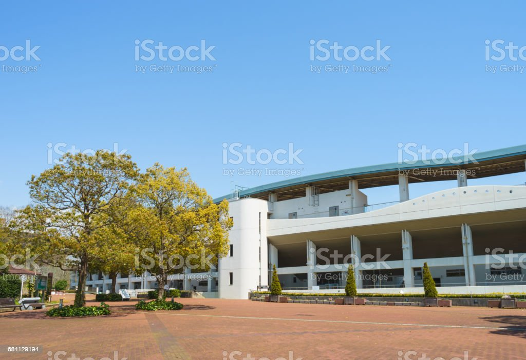 Square in front of Ashitaka athletic park foto stock royalty-free