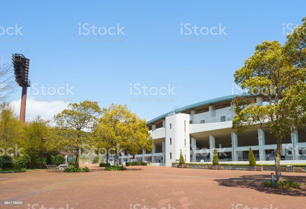 Square in front of Ashitaka athletic park zbiór zdjęć royalty-free