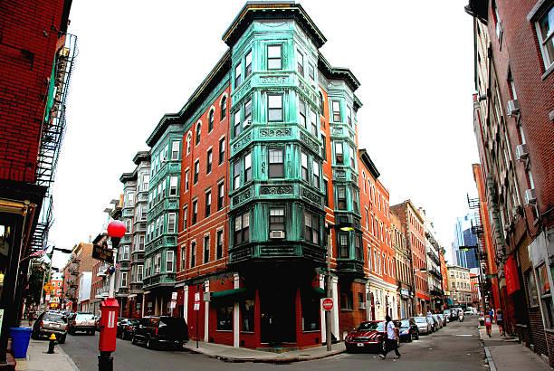 Square in old Boston stock photo