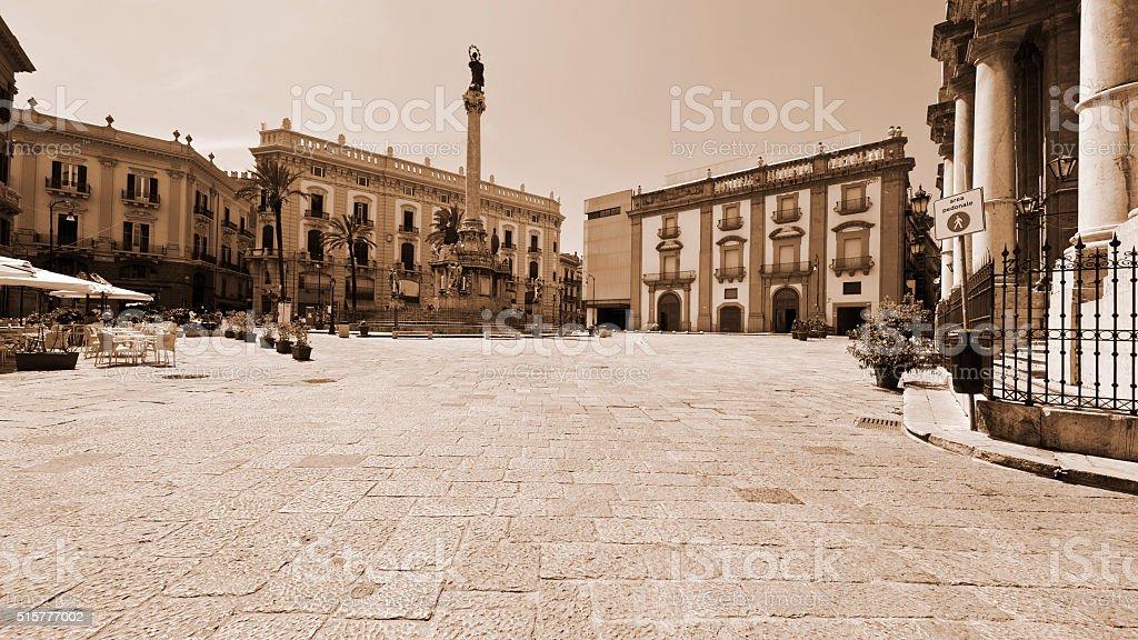 Square in Palermo stock photo