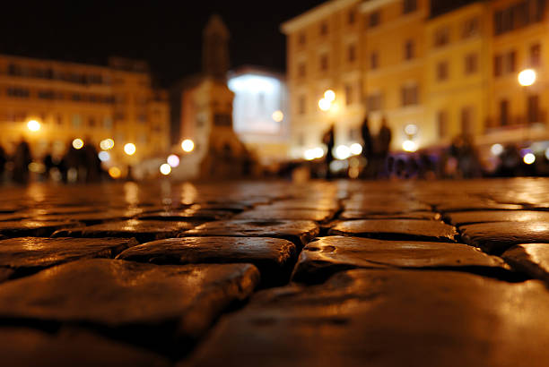 Square in Rome stock photo