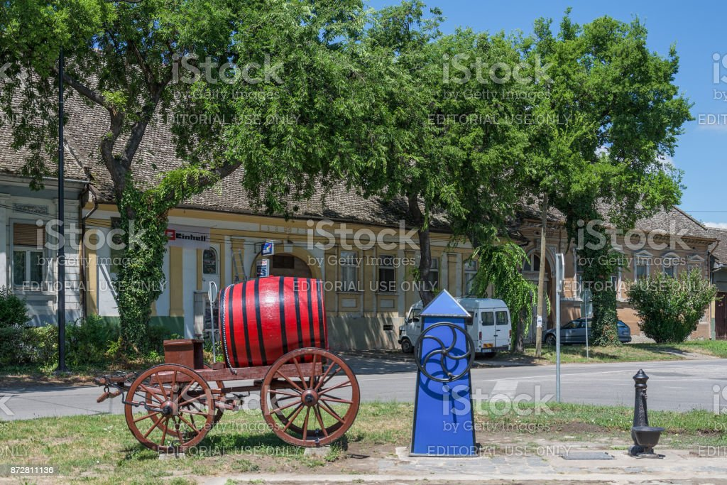 square in Sombor with details stock photo