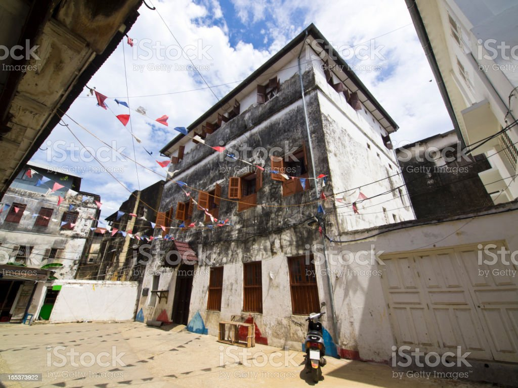 Square in Stone Town royalty-free stock photo