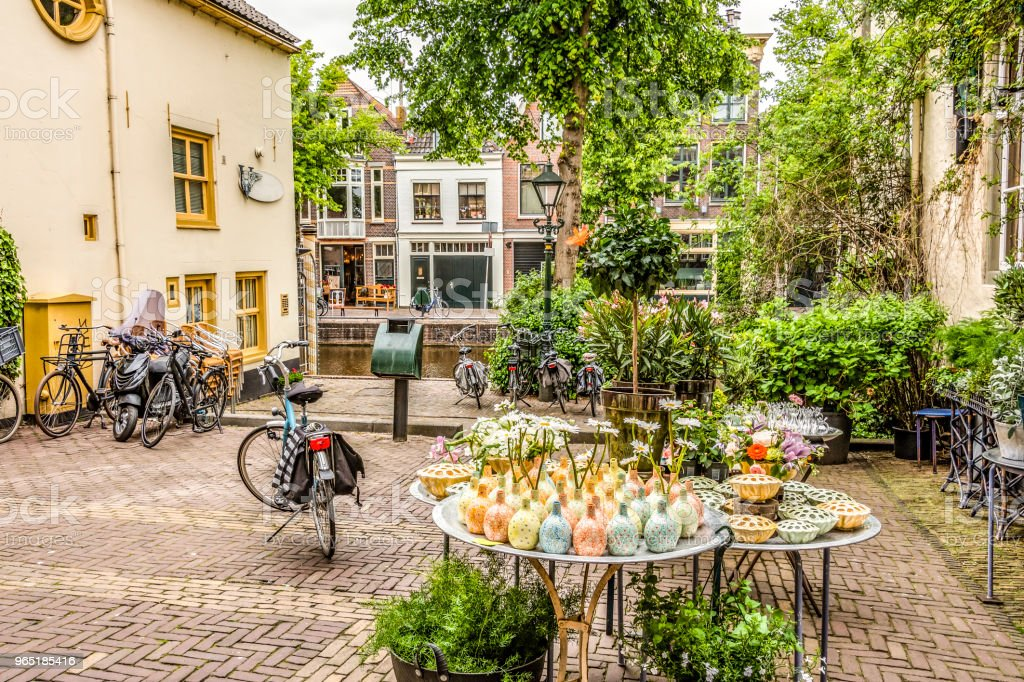 Square in the center of Alkmaar. netherlands holland royalty-free stock photo