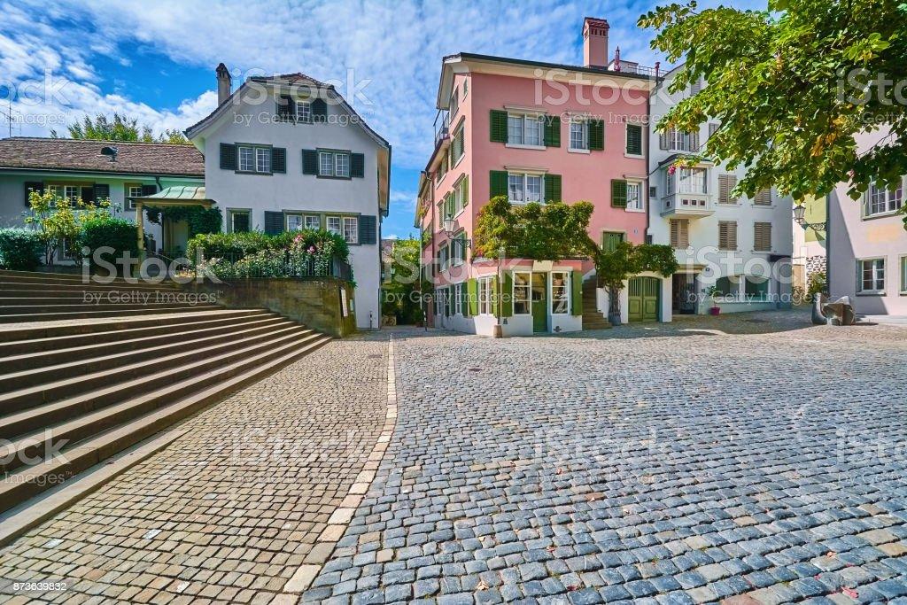 Square in Zurich stock photo