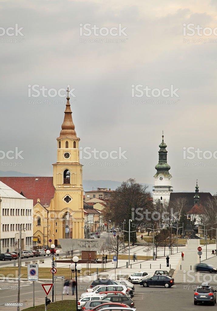 Square in Zvolen. Slovakia stock photo