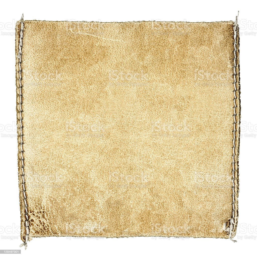 Square leather label stock photo
