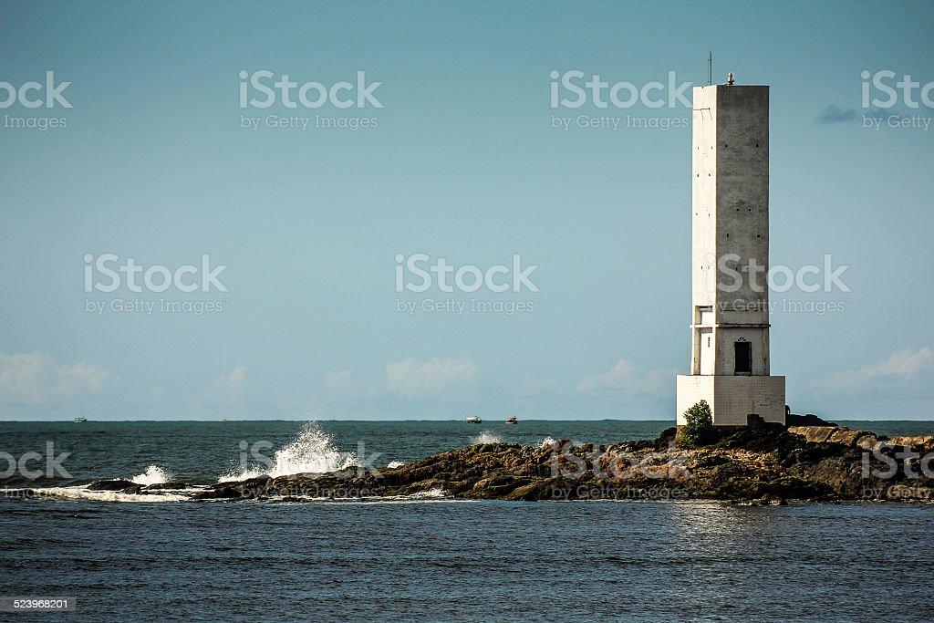 Square Lighthouse in Praia da Concha, Itacaré, Bahia, Brazil stock photo