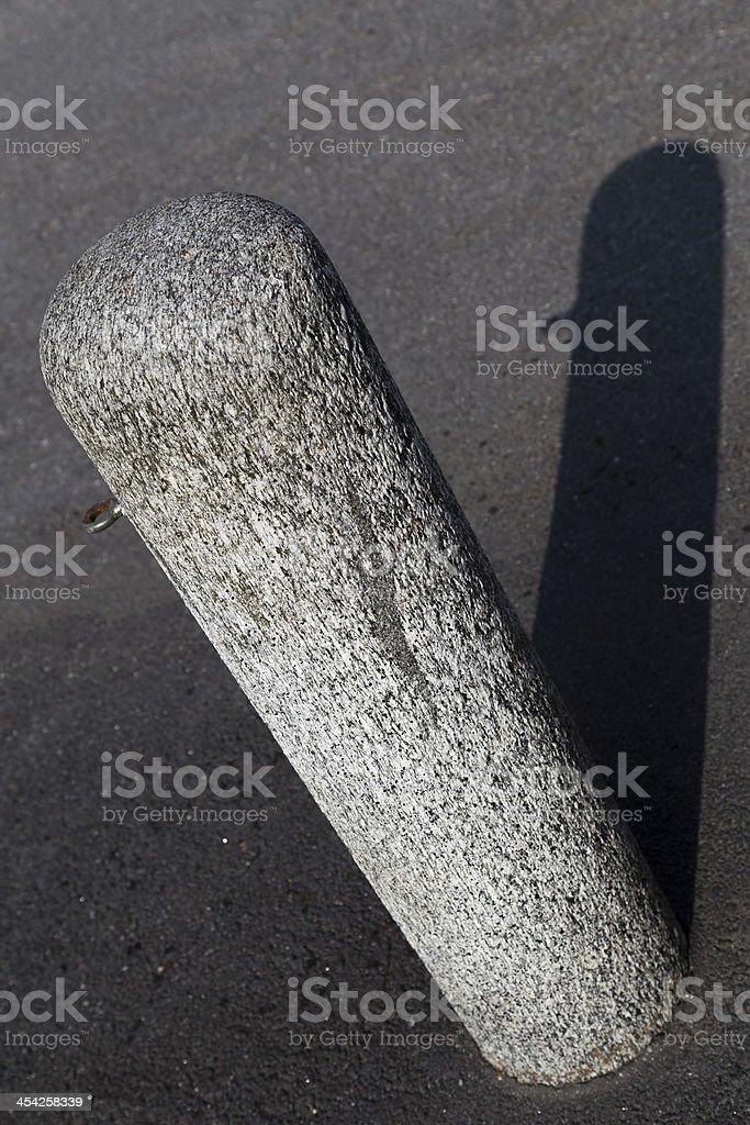 Square marble pylon l shadow royalty-free stock photo