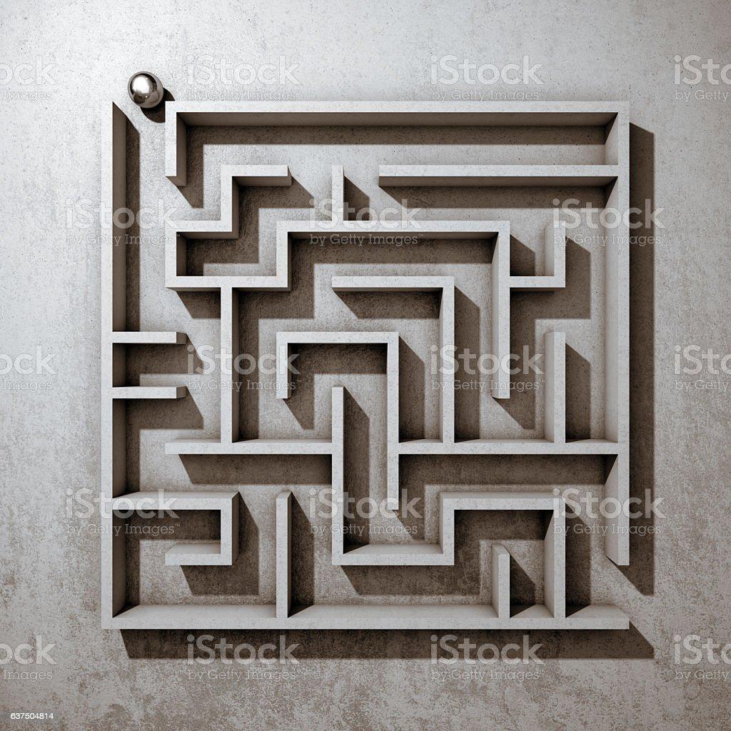 Square maze stock photo