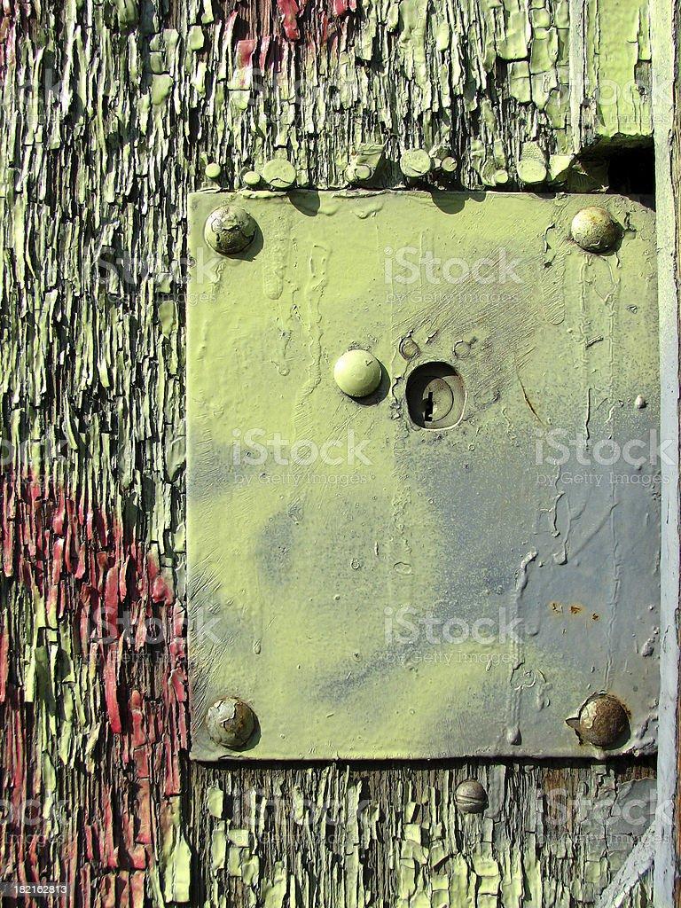 square metal peeling colors stock photo
