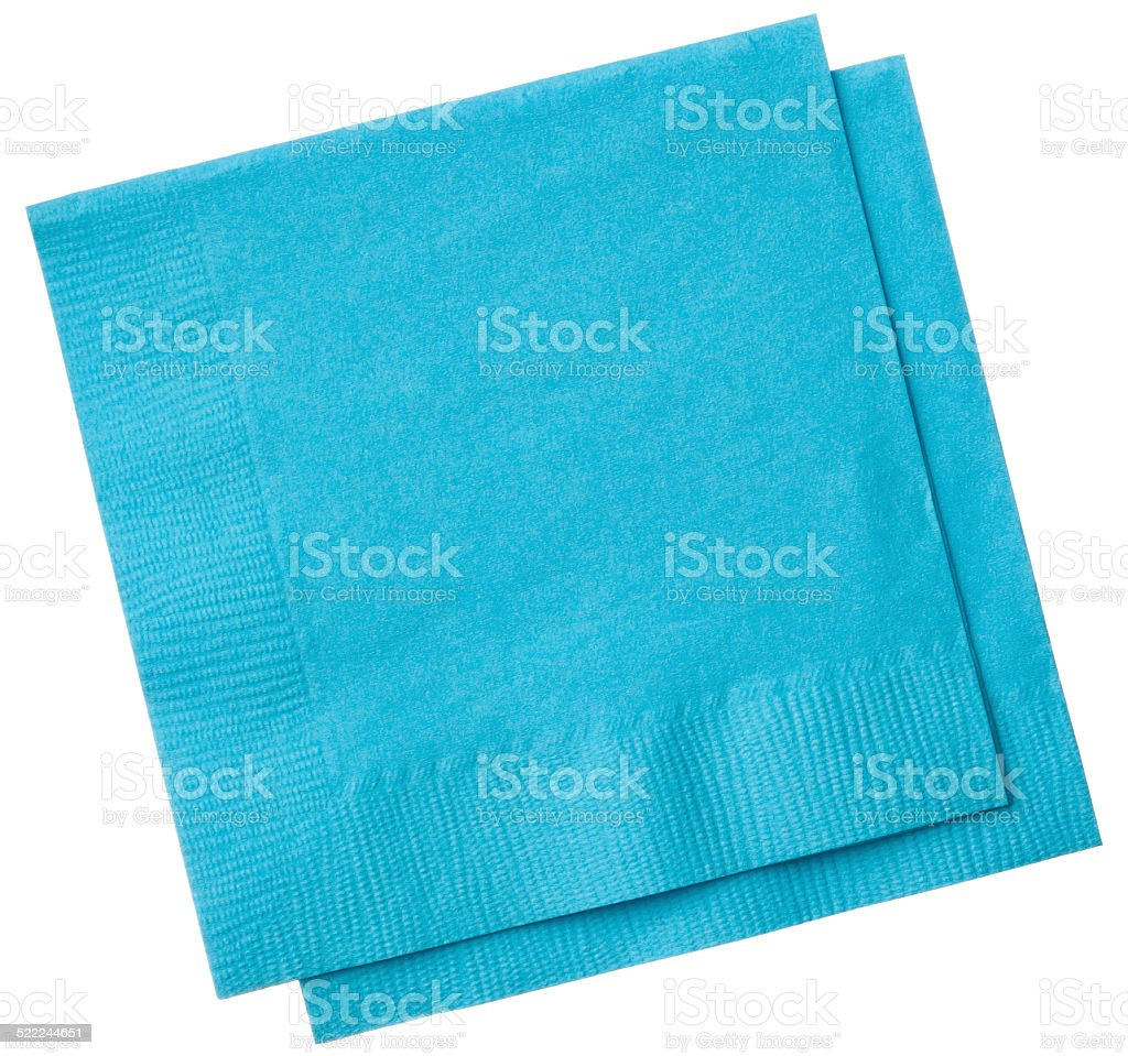 Square napkins isolated on white background stock photo