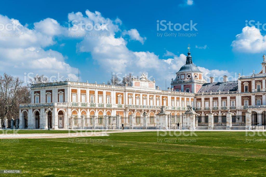 Plaza cerca del Palacio Real de Aranjuez, España - foto de stock