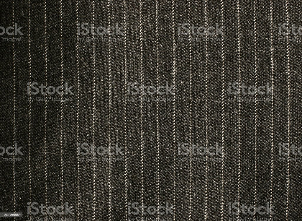Square of black and white pinstripe material stock photo
