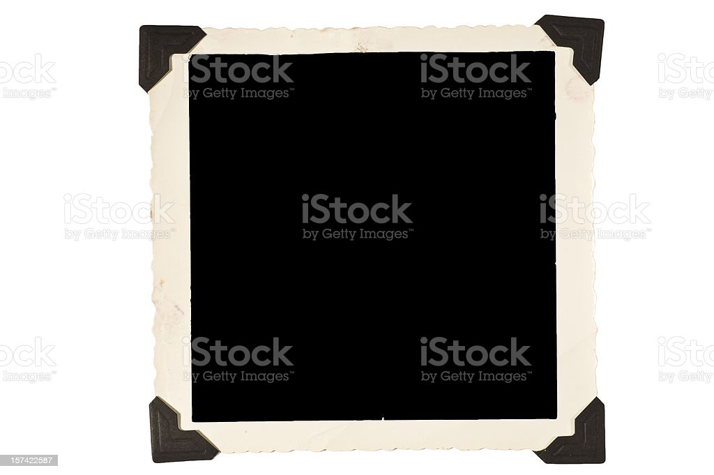 Square Old Picture Frame With Corners royalty-free stock photo
