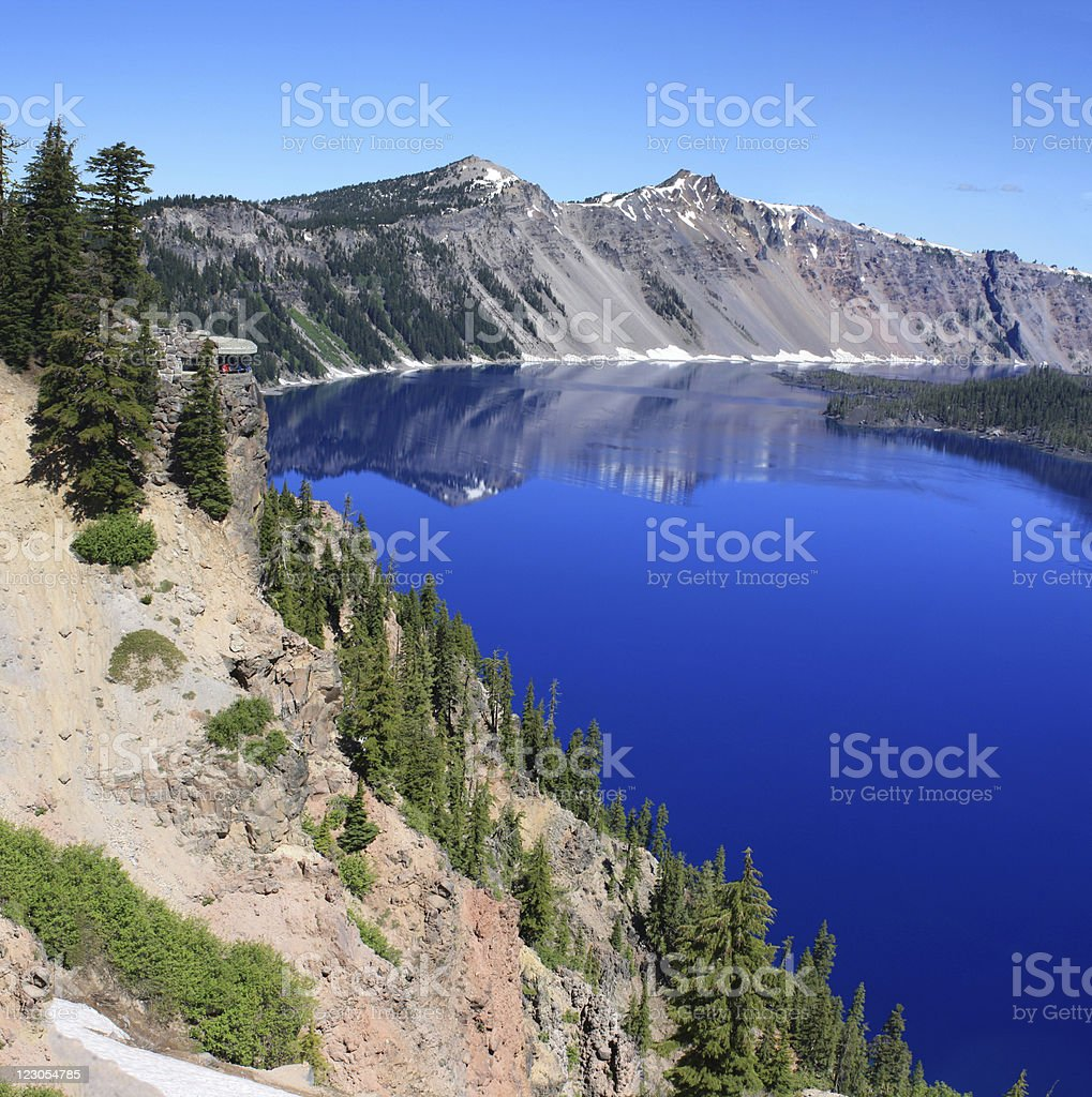 Square Pamorama Crater Lake, OR royalty-free stock photo