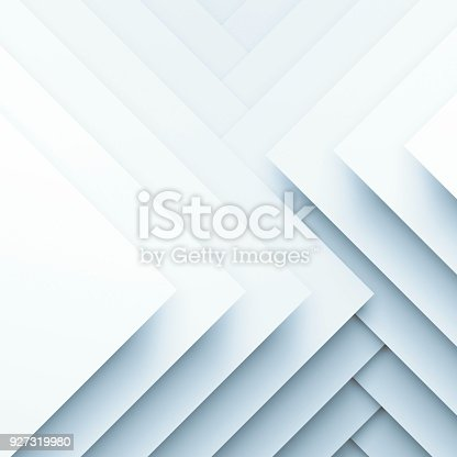 927319980 istock photo Square paper layers. 3d illustration 927319980