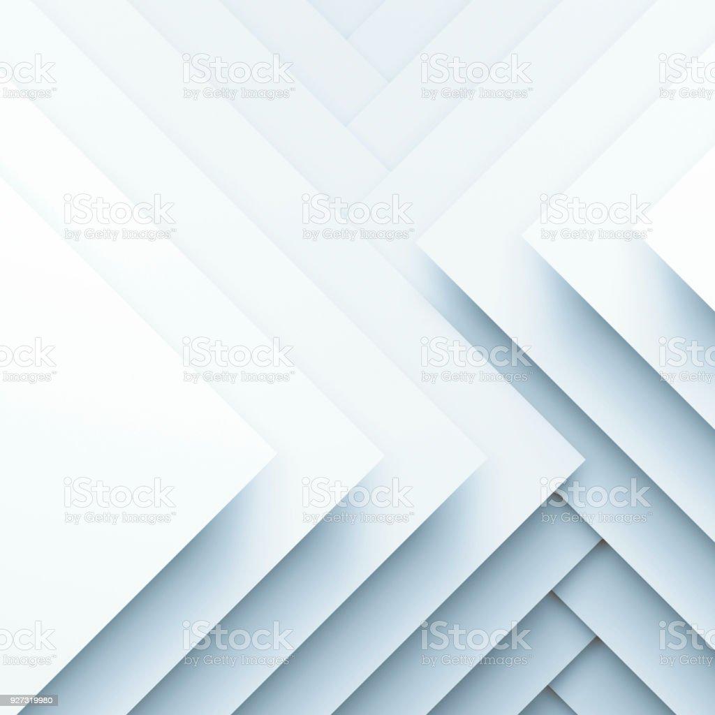 Quadratische Papierlagen. 3D illustration – Foto