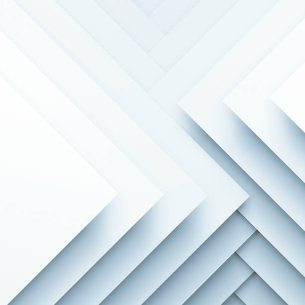 Square paper layers. 3d illustration Abstract white square background, geometric pattern of square paper layers. 3d illustration multi layered effect stock pictures, royalty-free photos & images