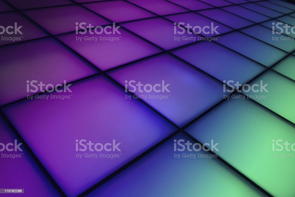 Square patterns with purple, dark blue and ocean green color royalty-free stock photo
