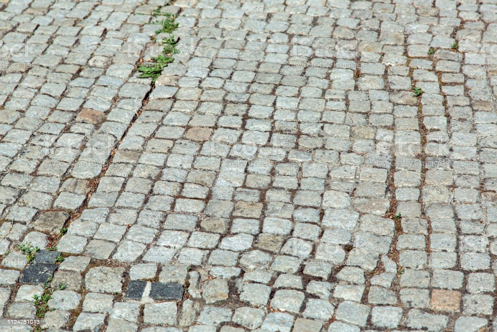 Square Pebble Stone Blocks Of Gray Color Tile Pavement Texture Stock Photo Download Image Now Istock