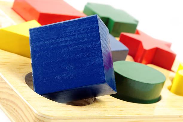 Square Peg en un orificio redondo - foto de stock