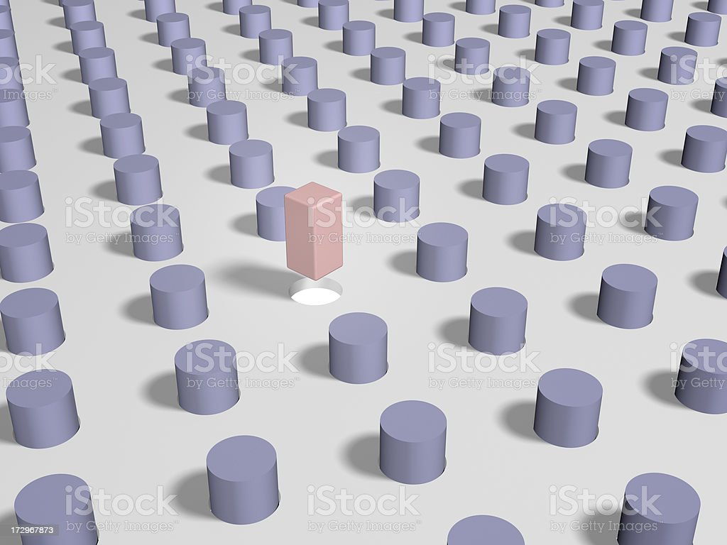Square Peg royalty-free stock photo
