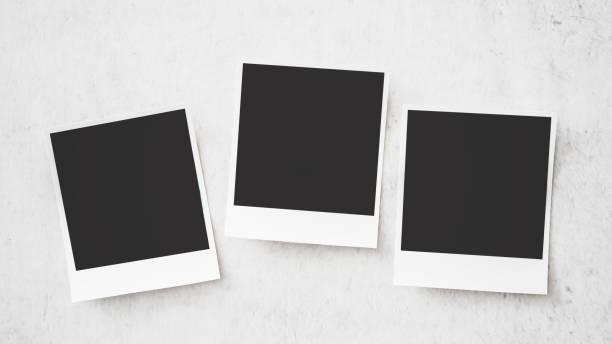 Quadratische Bilderrahmen auf weißem Hintergrund – Foto
