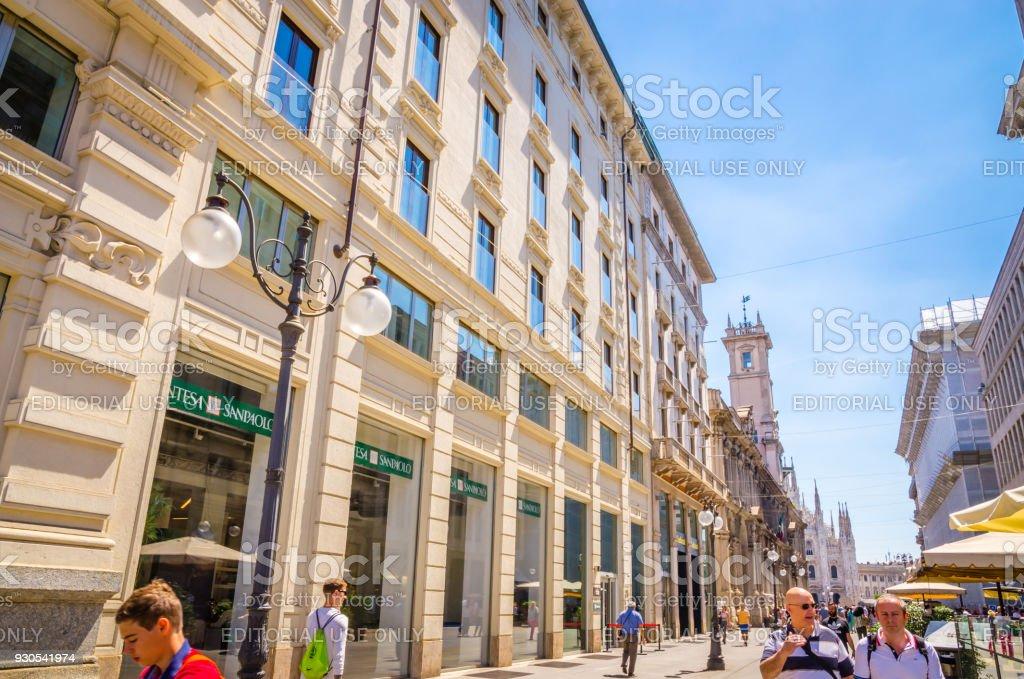 MILAN, ITALY, 19 JUNE 2017: Square Piazza Duomo at morning, Milan, Italy. - foto stock