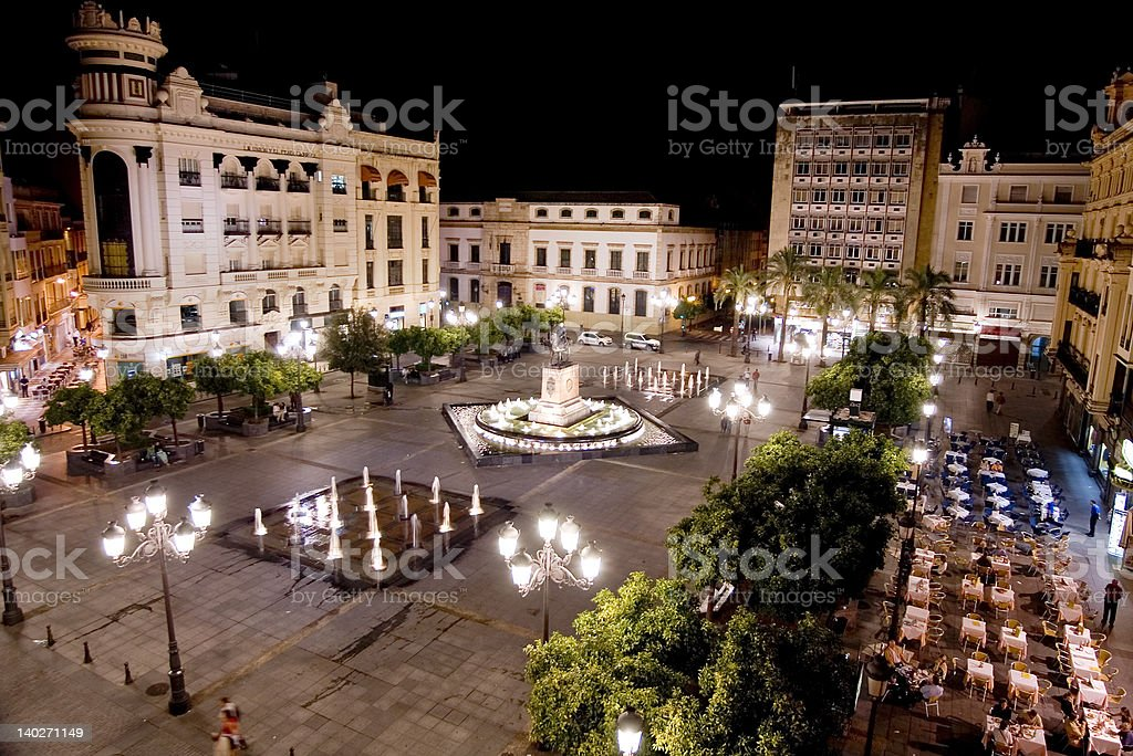 plaza stock photo