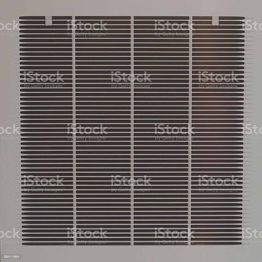 square plastic air vent stock photo