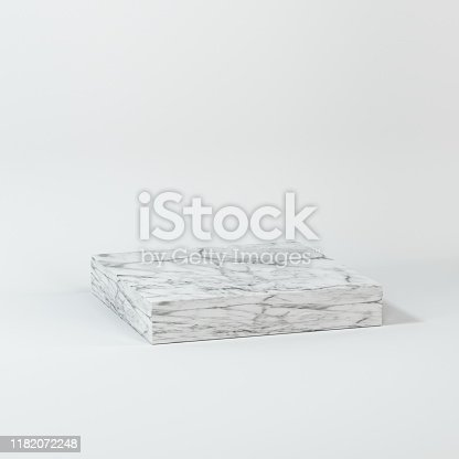 istock Square platform with solid color background, 3d rendering. 1182072248