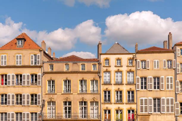 Square Room in Metz stock photo