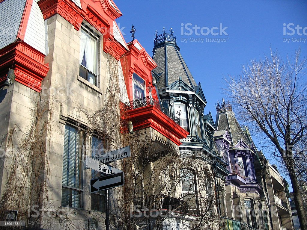 Square Saint Louis Buildings in Montreal royalty-free stock photo