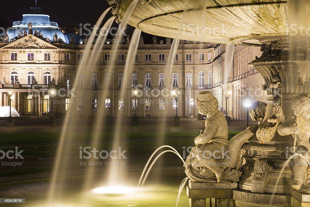Square Schlossplatz, Stuttgart, Germany stock photo
