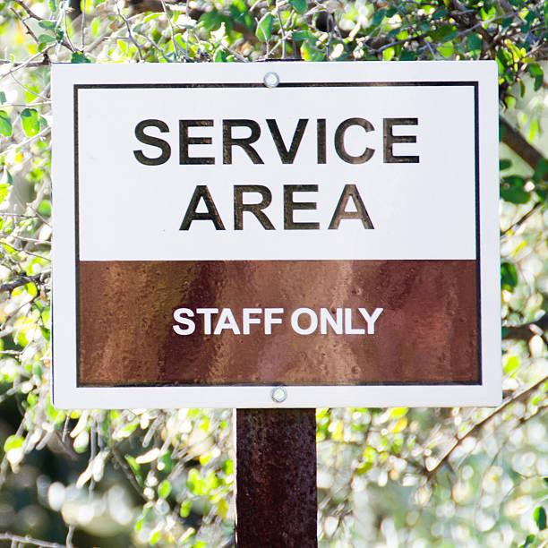 Square Service Area sign stock photo