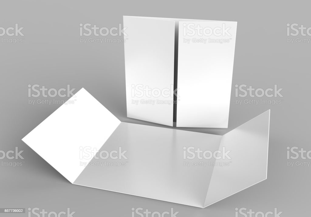 Square Single Open Gate Fold Brochure 3 Panel And Six Pages Leaflet ...