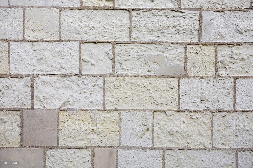 Square stone brick wall royalty-free stock photo