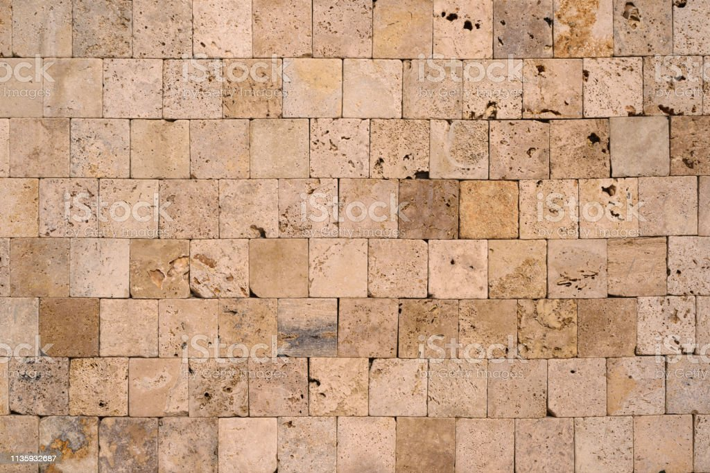 Square Stone Wall Textured