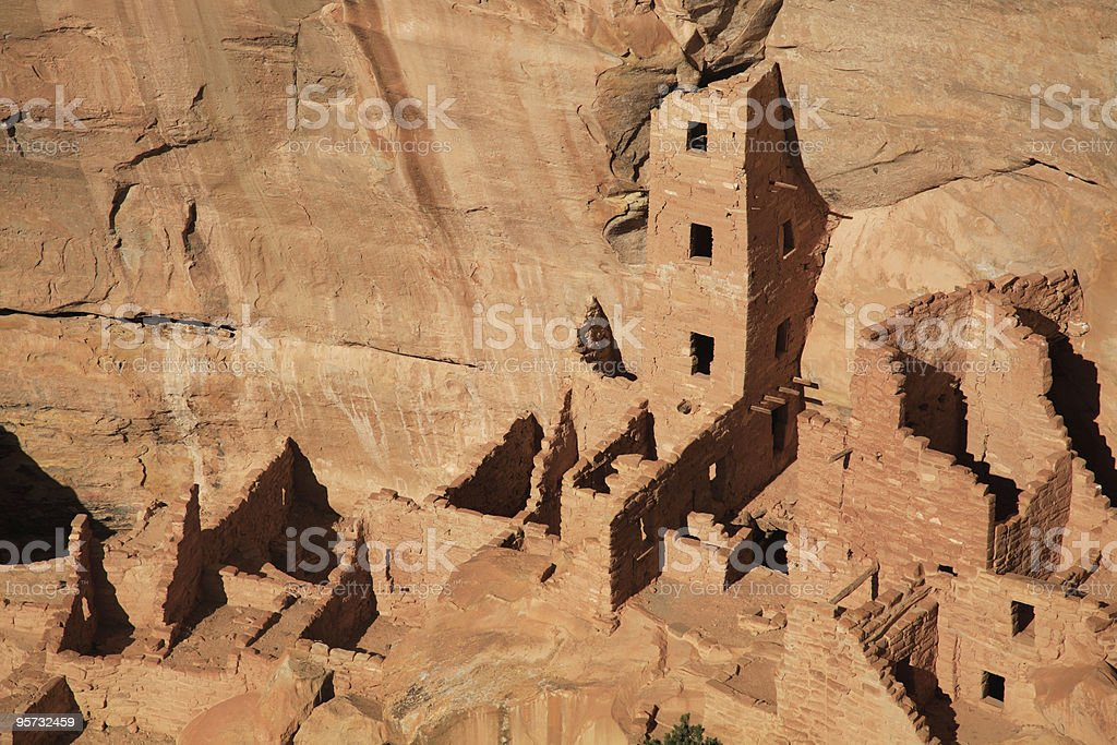 Square Tower House, Mesa Verde National Park royalty-free stock photo