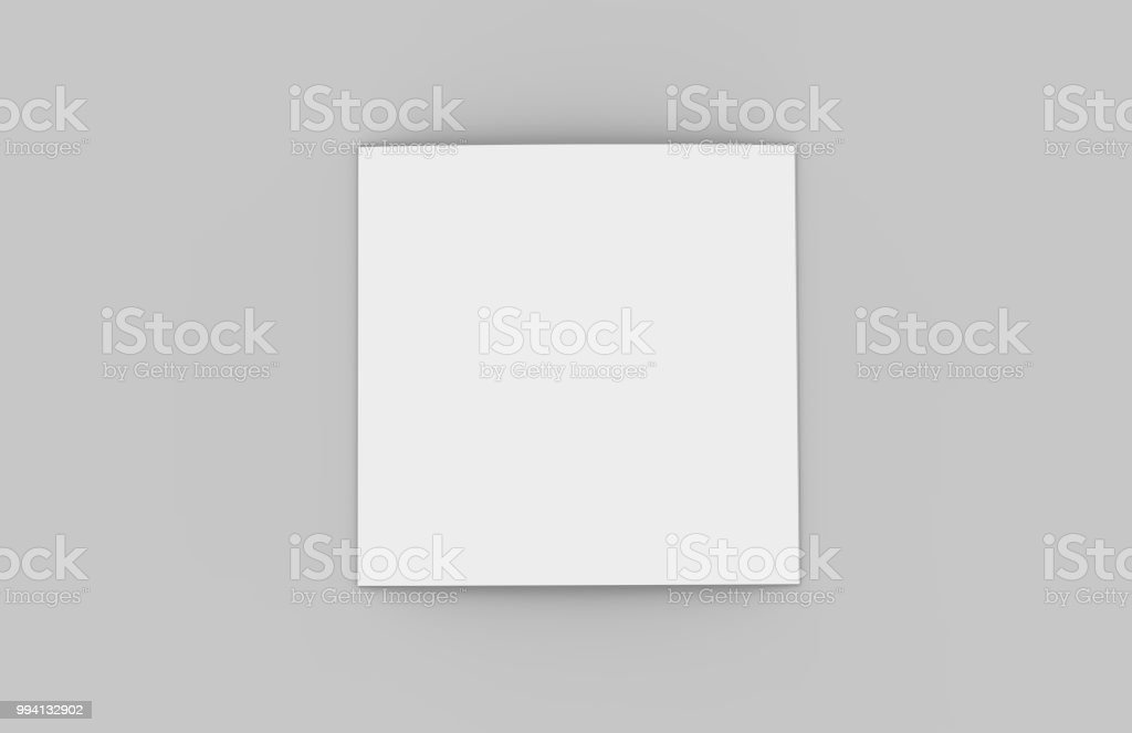 square trifold brochure mockup on isolated white