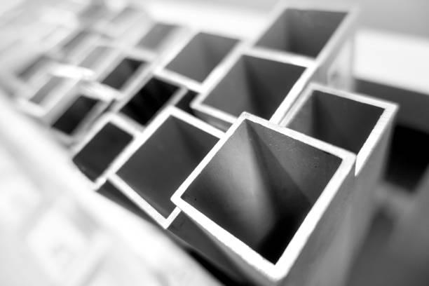 Square tubes (02) stock photo