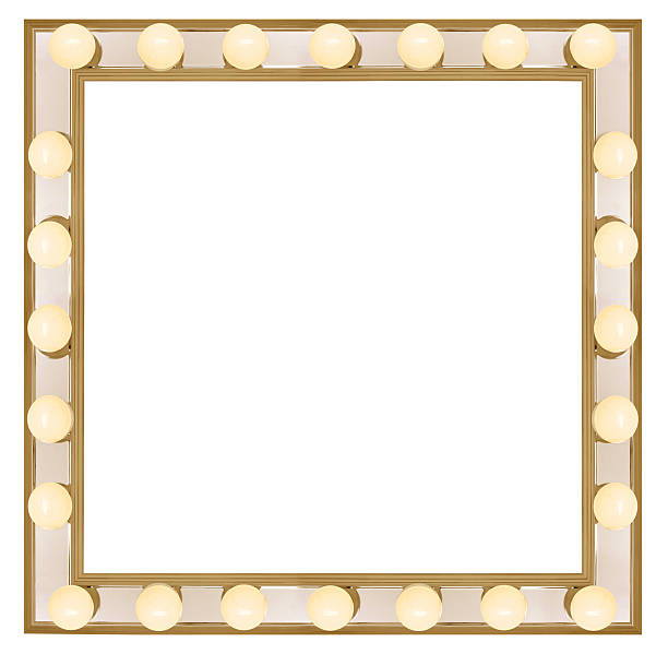 Square Vanity mirror  theater marquee commercial sign stock pictures, royalty-free photos & images